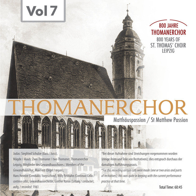 Thomanerchor, Vol. 7 (1941)
