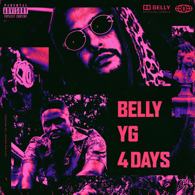 Cover art for album 4 Days by Belly, YG