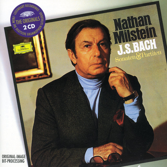 Cover art for album  by Nathan Milstein