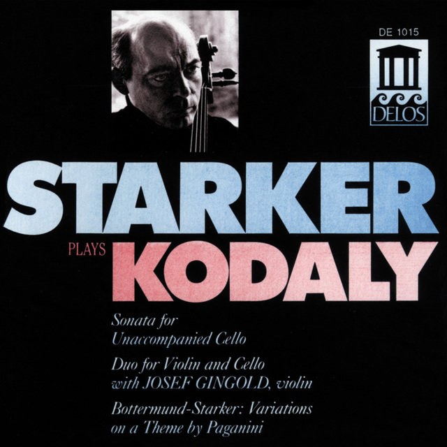 Kodaly, Z.: Cello Sonata / Duo / Bottermund, H.: Variations On A Theme by Paganini