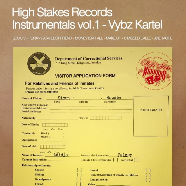 High Stakes Records Instrumentals, Vol. 1