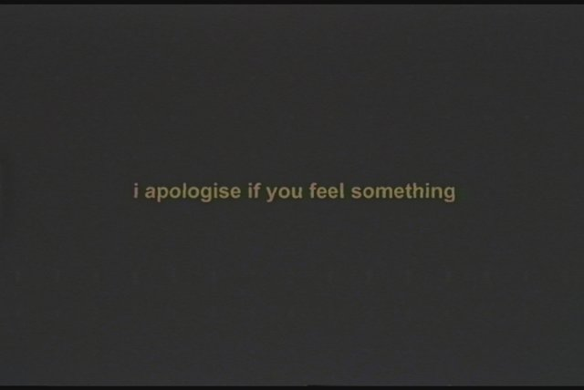 i apologise if you feel something (Lyric Video)