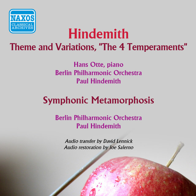 Hindemith: Theme and Variations, 'The 4 Temperaments' - Symphonic Metamorphosis after Themes by Carl Maria von Weber
