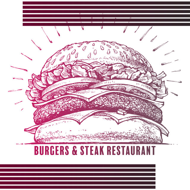 Burgers & Steak Restaurant - Classic Jazz Background for an Atmospheric Restaurant in the City Center