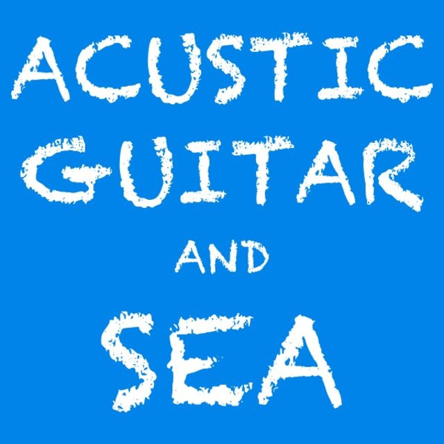 Acustic Guitar and Sea