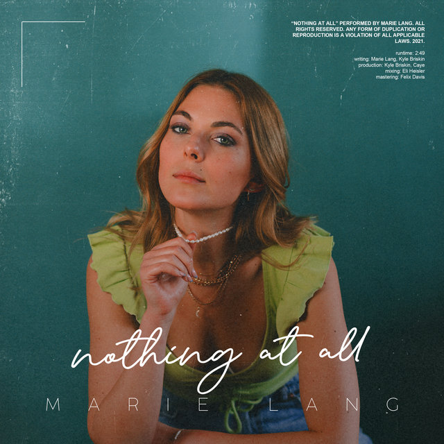 Cover art for album Nothing At All by Marie Lang