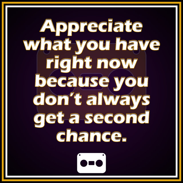 Appreciate (2nd Chance)
