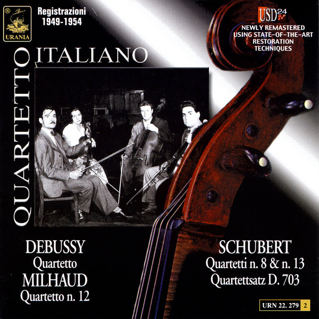 Quartetto Italiano Plays Schubert, Debussy & Milhaud