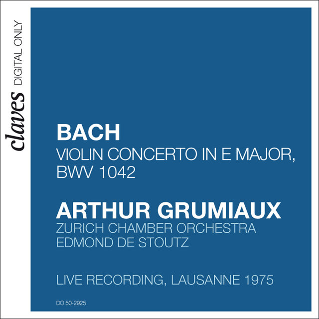 Arthur Grumiaux - Bach Concerto in E Major
