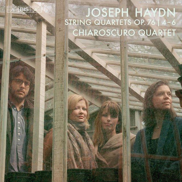 Cover art for album Haydn: String Quartets, Op. 76 Nos. 4-6 by Chiaroscuro Quartet