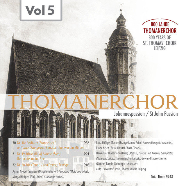 Thomanerchor, Vol. 5 (1954)