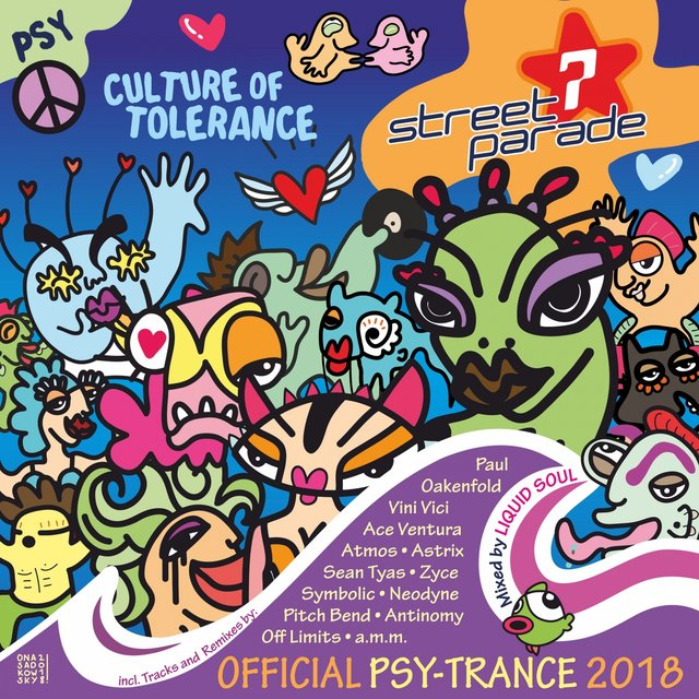 Street Parade 2018 Official Psy-Trance (Mixed by Liquid Soul)
