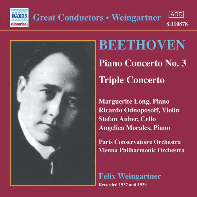 Beethoven: Piano Concerto No. 3 / Triple Concerto (Weingartner) (1937-1939)