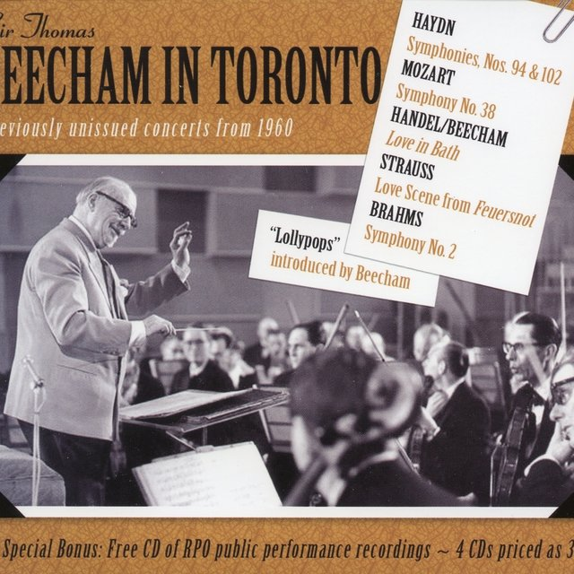 Beecham in Toronto - (Previously Unissued Concerts from 1960)