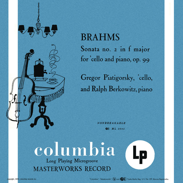 Brahms: Cello Sonata No. 2 in F Major & Beethoven: Cello Sonata No. 5 in D Major (Remastered)