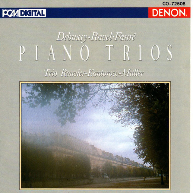 Cover art for album  by Philippe Muller, Jean-Jacques Kantorow, Jacques Rouvier