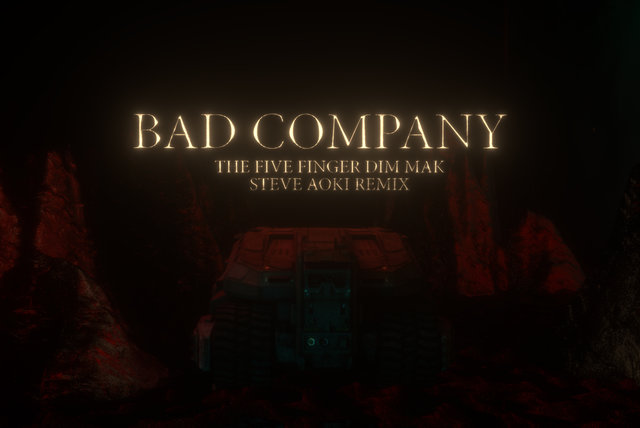 Bad Company (The Five Finger Dim Mak Steve Aoki Remix) [Lyric Video]