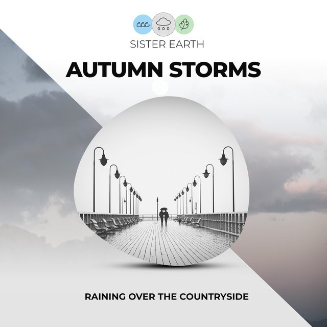 Autumn Storms: Raining Over the Countryside
