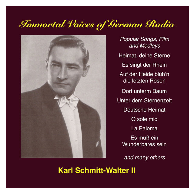 Karl Schmitt-Walter, Vol. 2: Popular Songs and Film