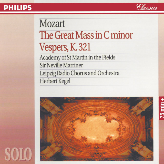 Mozart: The Great Mass in C Minor; Vesper K.321
