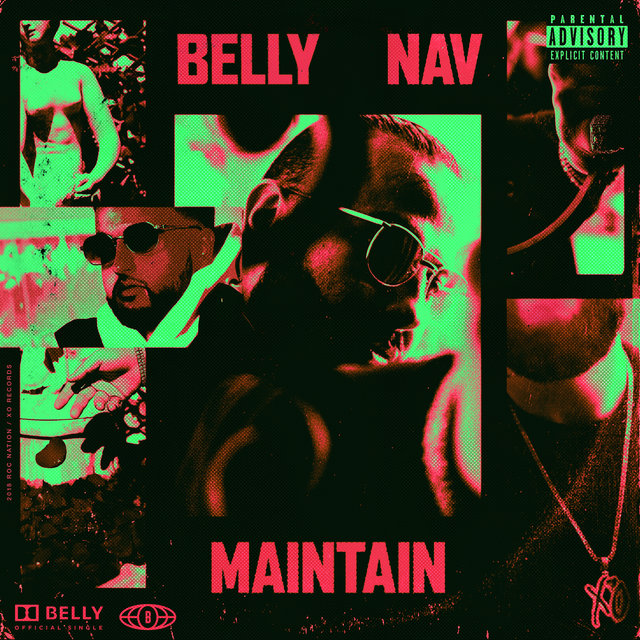 Cover art for album Maintain by Belly, NAV