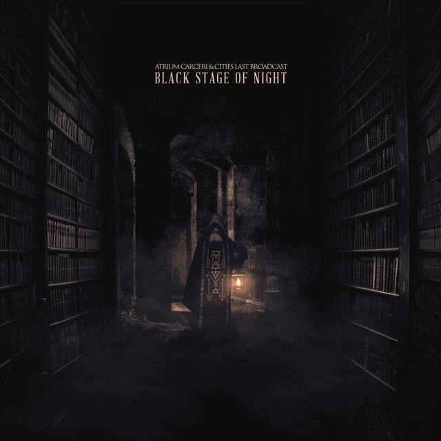 Cover art for album Black Stage of Night by Atrium Carceri & Cities Last Broadcast