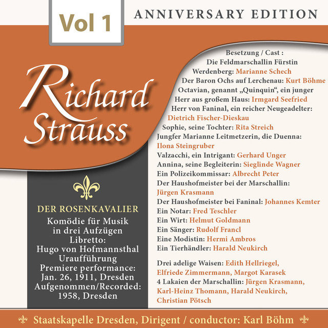 Richard Strauss: Anniversary Edition, Vol. 1 (Recorded 1958)