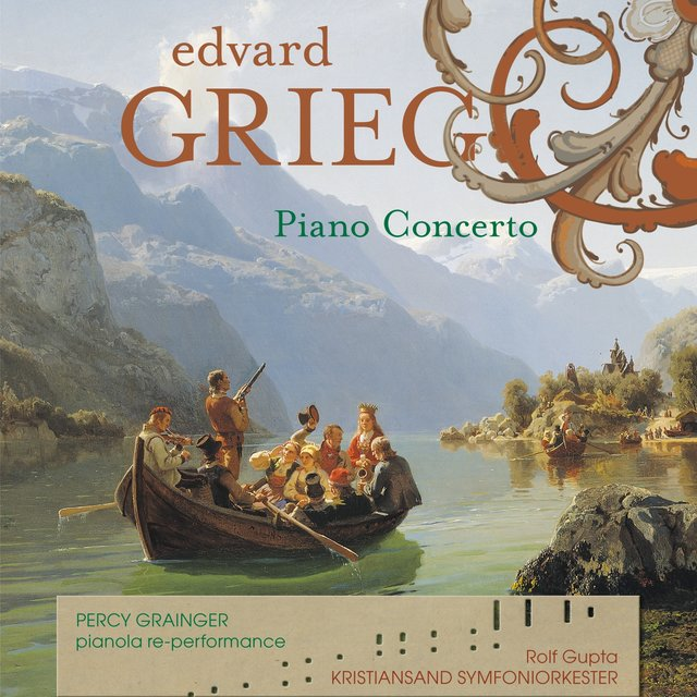 GRIEG Piano Concerto (Duo-Art music rolls from 1921with modern orchestra)
